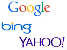 Google(R), Bing(R), Yahoo!(R) search engines