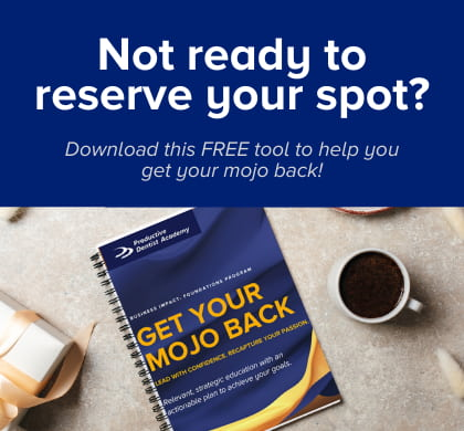 Not ready to reserve your spot? Download this FREE tool to help you get your mojo back.