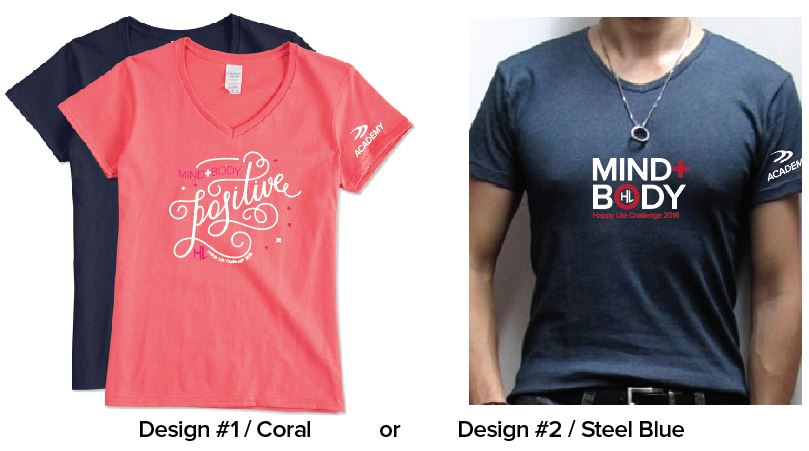 T Shirts By Design Anacortes | Healthy Mind Healthy Body Happy Life Challenge Productive
